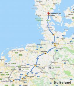 Dag 1 Aanrij route Noorwegen