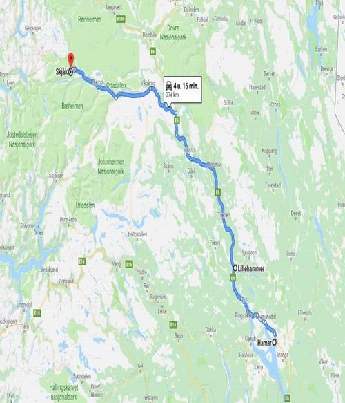 Dag 4 Hamar - Lillehammer - Skjak