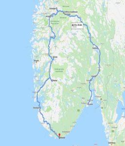 Route Noorwegen 2
